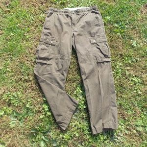 The North Face Mens Brown Cargo Pants Size 34